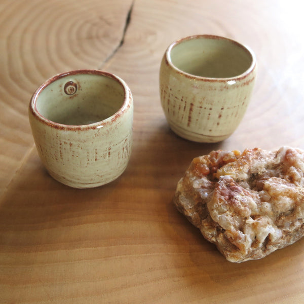 handcrafted pottery tea cups - Jarrett West - FOUND&MADE