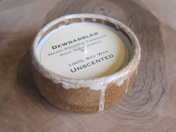 hand poured ceramic candle by Dewdabbled - FOUND&MADE