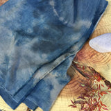 Hand dyed ayurvastra linen wool blanket - Lookout and Wonderland