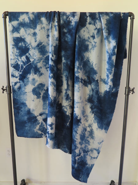 hand dyed wild indigo blanket by Lookout and Wonderland - FOUND&MADE