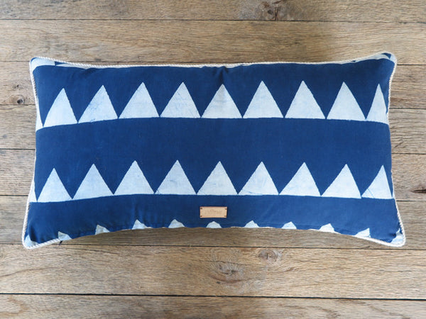 Japanese indigo hand block one of a kind pillow - FOUND&MADE