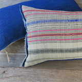 handmade linen stripe one of a kind pillow - FOUND&MADE