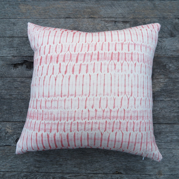 hand dyed shibori one of a kind pillow by Noon Design- FOUND&MADE