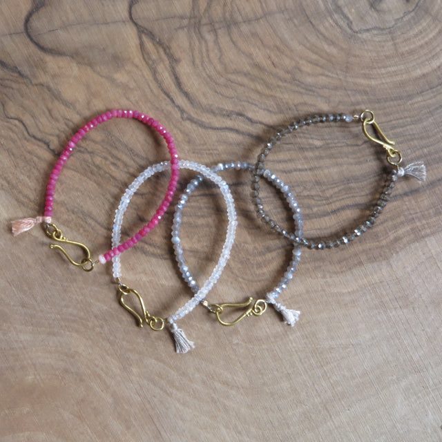 jewel tassel layering bracelets - Amy Weber Design