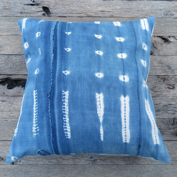 african blue mud cloth pillow - FOUND&MADE