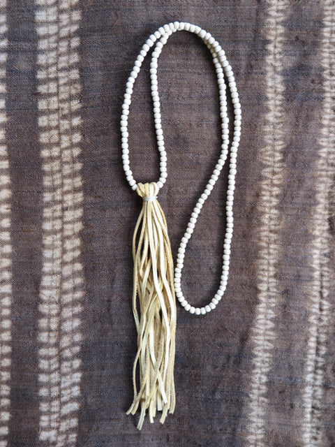 handmade natural suede tassel - Amy Weber Design