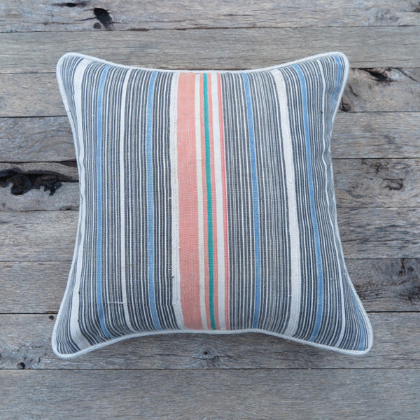 west coast stripe one of a kind pillow - FOUND&MADE