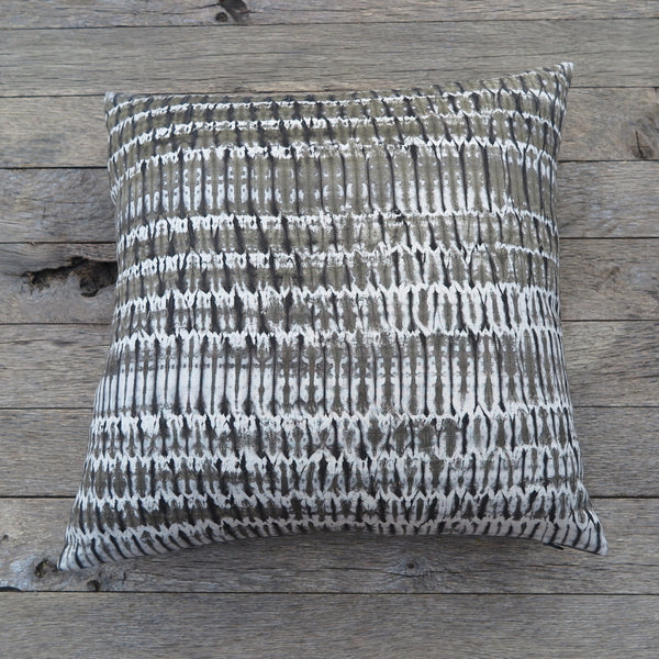 natural dye shibori one of a kind pillow-Noon Design - FOUND&MADE