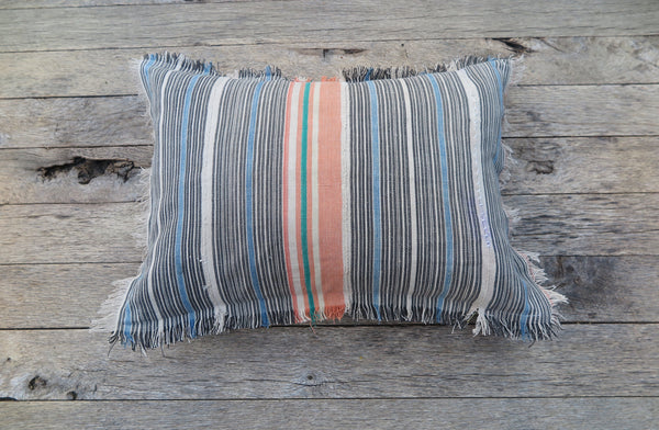 baja beach stripe one of a kind pillow - FOUND&MADE