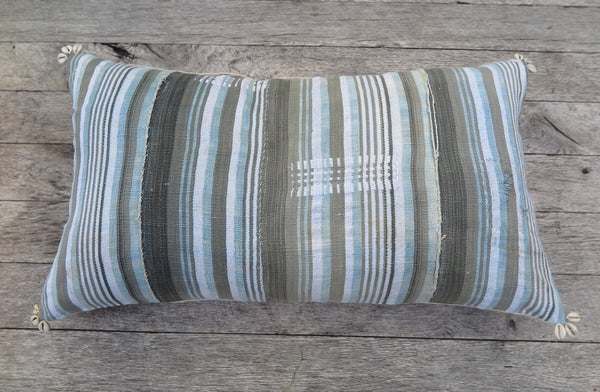 surf and sand stripe one of a kind pillow - FOUND&MADE