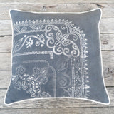 artisan made batik one of a kind pillow - FOUND&MADE