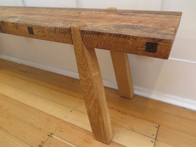handcrafted tapered dovetail bench - Found&Made