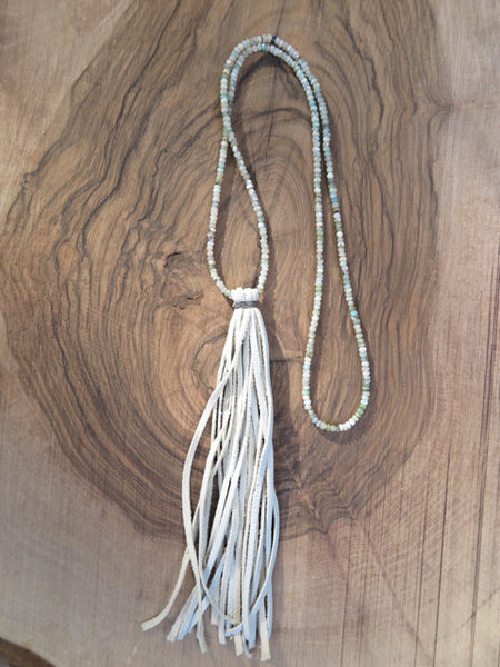 peruvian opal tassel necklace by Amy Weber Design - FOUND&MADE