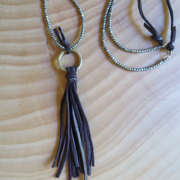 leather tassel necklace by Amy Weber Design - FOUND&MADE