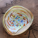 sixties artisan murano glass bowl