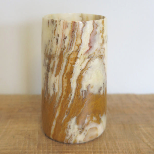agate stone vase - FOUND&MADE