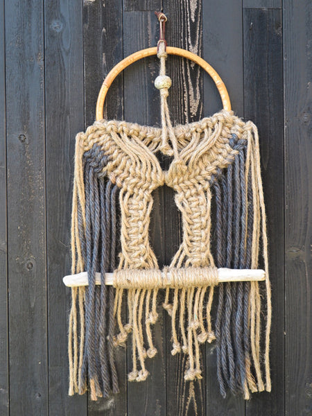 handknotted macrame dream catcher-KKIBO-FOUND&MADE