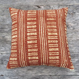neutral mud cloth - one of a kind pillow