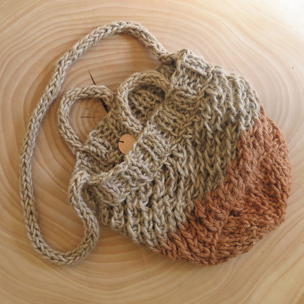 handcrafted natural dye market bag - KKIBO - FOUND&MADE