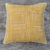 modern mud cloth rope one of a kind pillow - FOUND&MADE