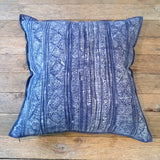 vintage indigo hill tribe batik pillow - FOUND&MADE