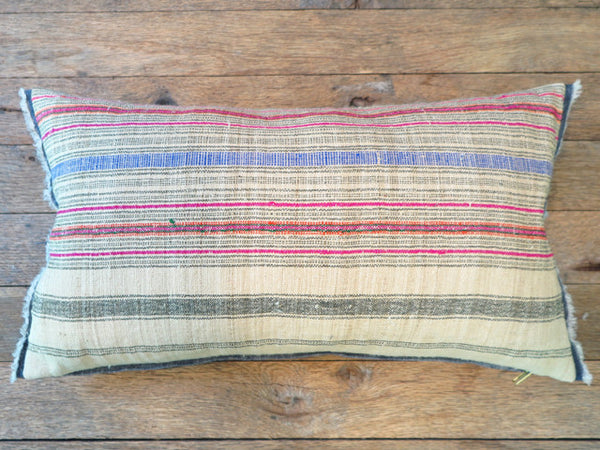 artisan linen textile one of a kind pillow- FOUND&MADE
