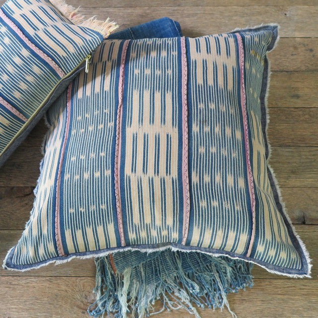 handmade bohemian one of a kind pillow - FOUND&MADE