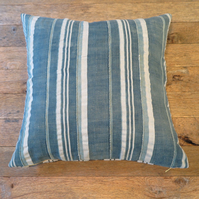 relaxed stripe mud cloth one of a kind pillow - FOUND&MADE