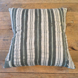 relaxed stripe mud cloth- one of a kind pillow