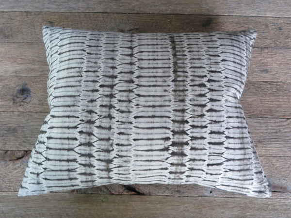 modern shibori one of a kind pillow - Noon Design Studio - FOUND&MADE