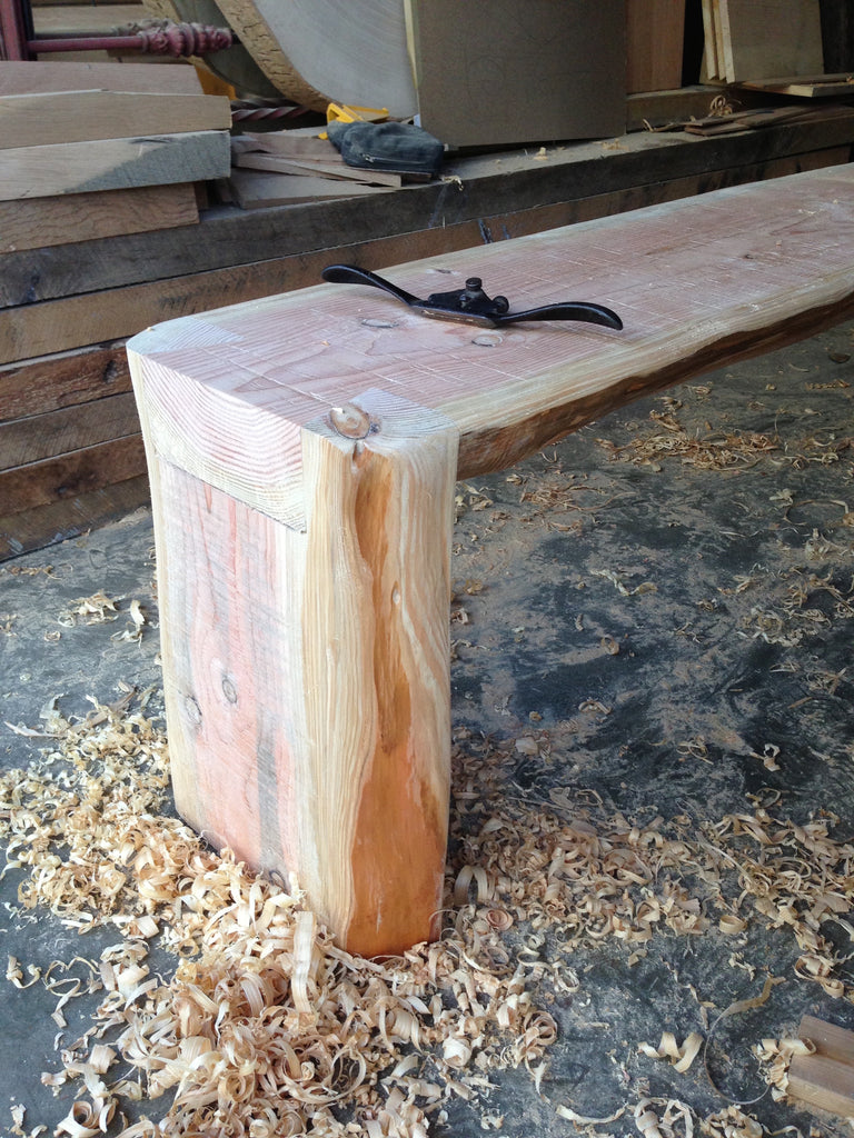 handcrafted live edge dovetail bench - FOUND&MADE