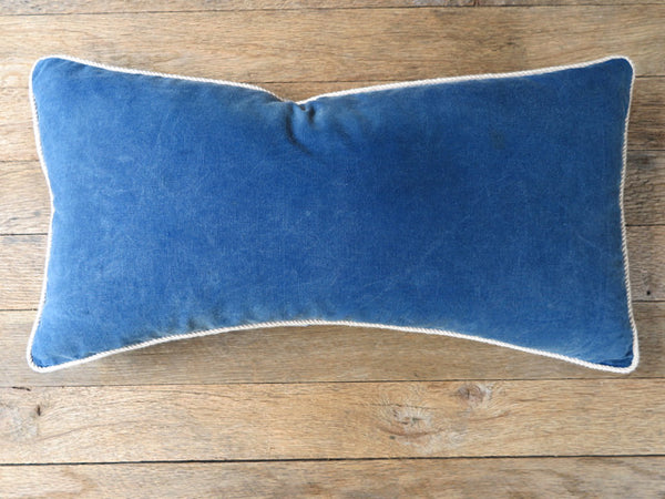 japanese indigo rope pillow - FOUND&MADE
