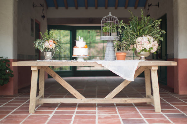 artisan trestle dining table - FOUND&MADE