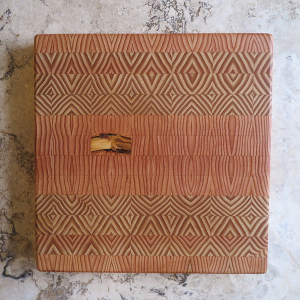 handcrafted mosaic cutting board - FOUND&MADE