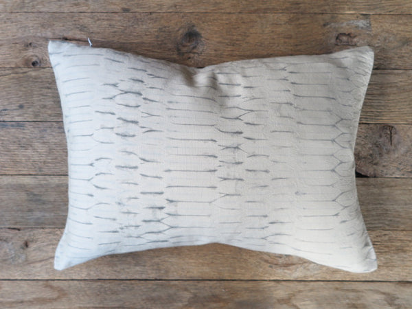 natural dye shibori pillow - Noon Design Studio - FOUND&MADE