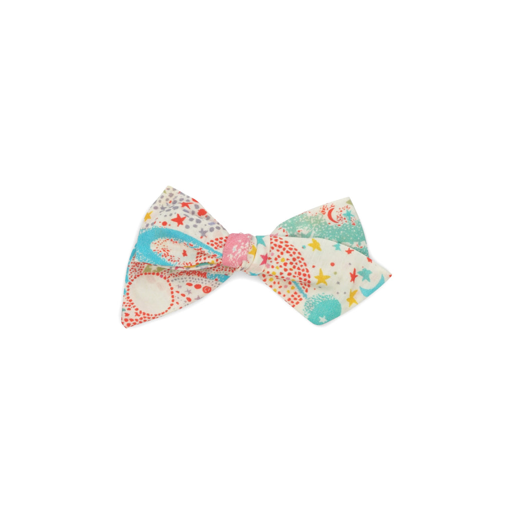 "Hand-tied Little Bow - ""Milky Way"" - Bunnylulu Handmade"
