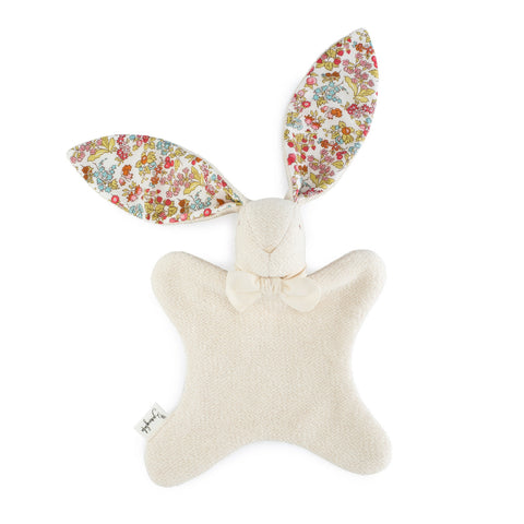 "Organic Bunny Lovey - Liberty of London ""Nancy Ann"" - Bunnylulu Handmade"