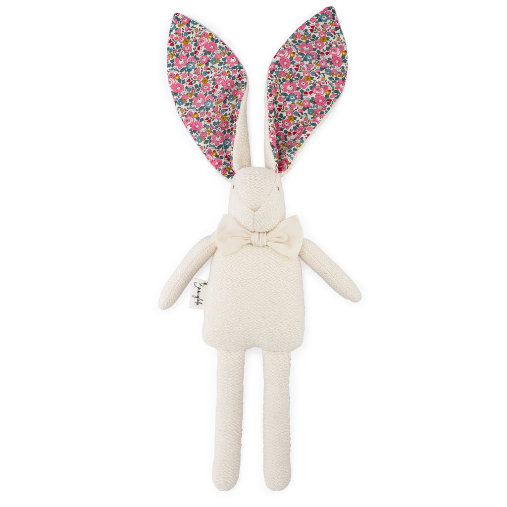 "Organic Bunny Raggy - Liberty of London ""Betsy Ann"" - Bunnylulu Handmade"