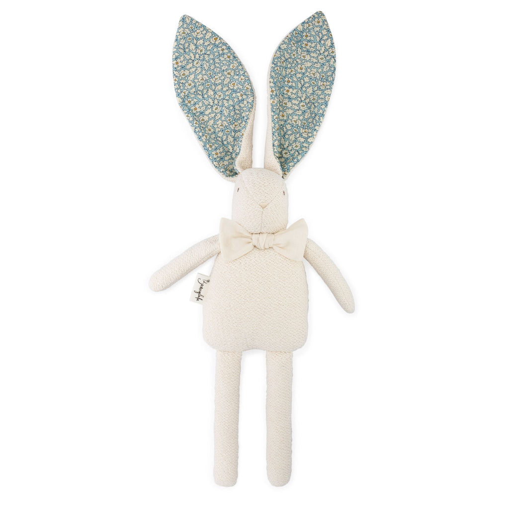 "Organic Bunny Raggy - Liberty of London ""Feather Fields"" - Bunnylulu Handmade"