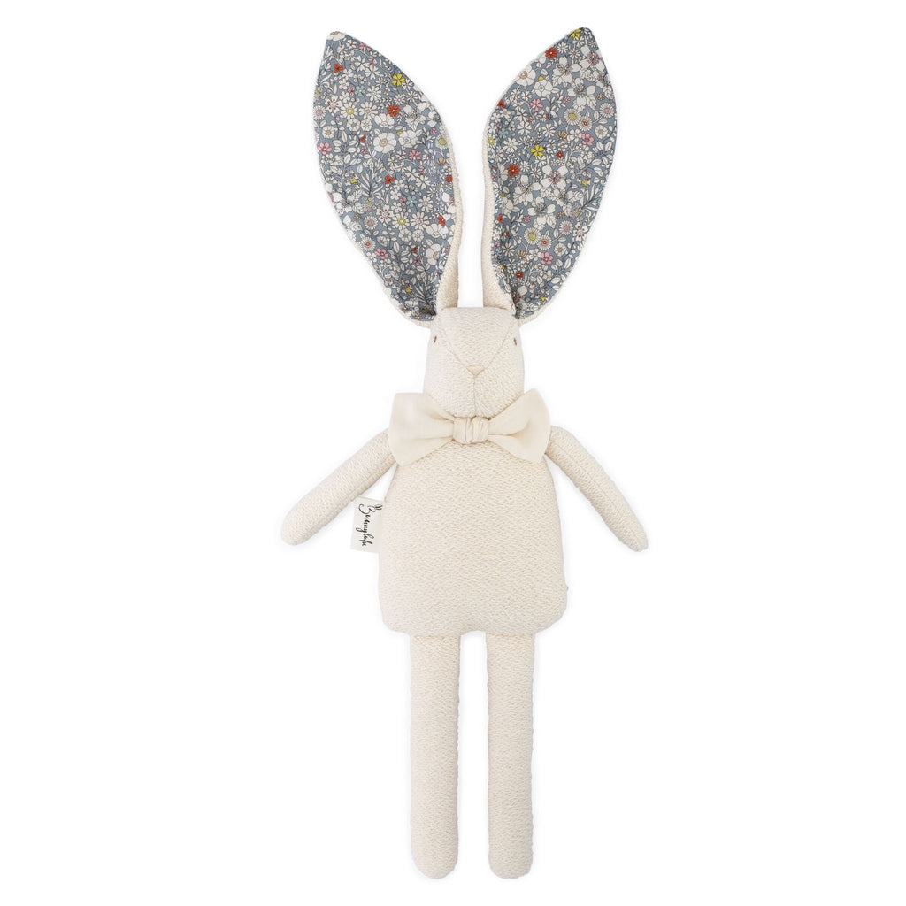 "Organic Bunny Raggy - Liberty of London ""June's Meadow"" - Bunnylulu Handmade"
