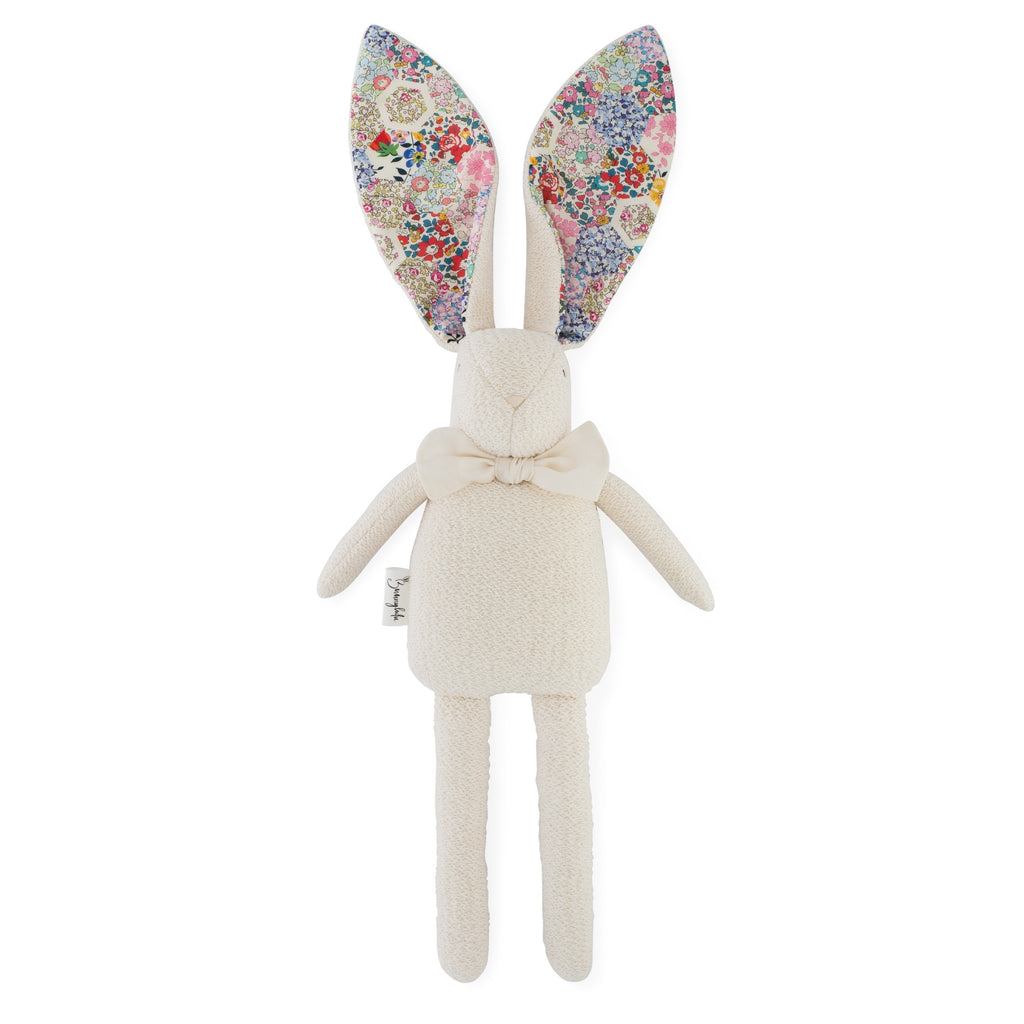 "Organic Bunny Raggy - Liberty of London ""Patchwork Stories"" - Bright - Bunnylulu Handmade"
