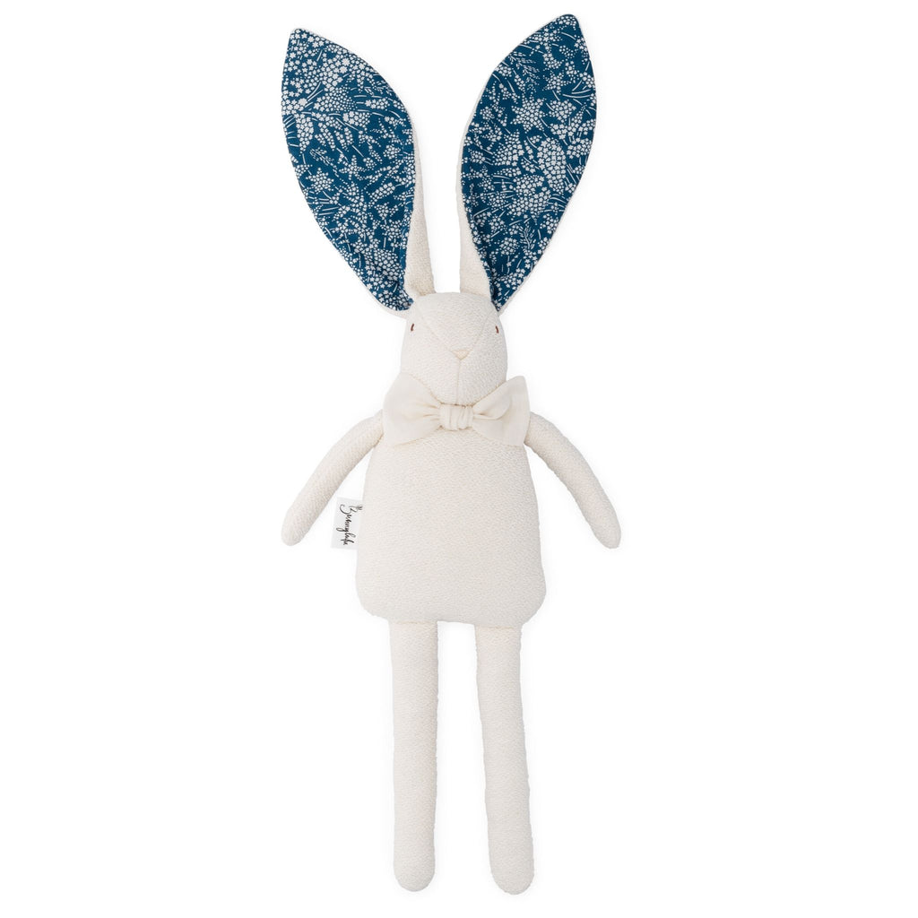 "Organic Bunny Raggy - Liberty of London ""Whispering Stars"" - Teal Blue - Bunnylulu Handmade"