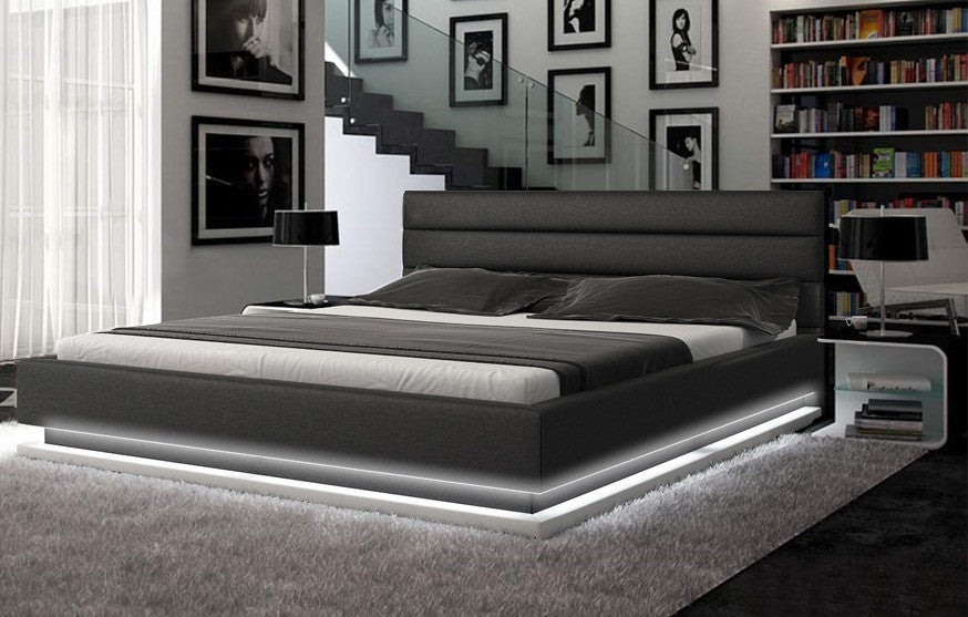 Colby Leather Platform Bed