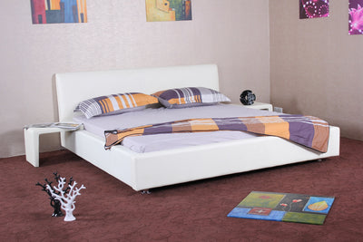 Axle Leather Platform Bed