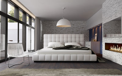 Davidson Leather Platform Bed