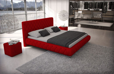 Franco Leather Platform Bed