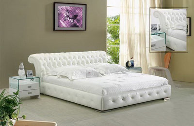 Everly Leather Platform Bed