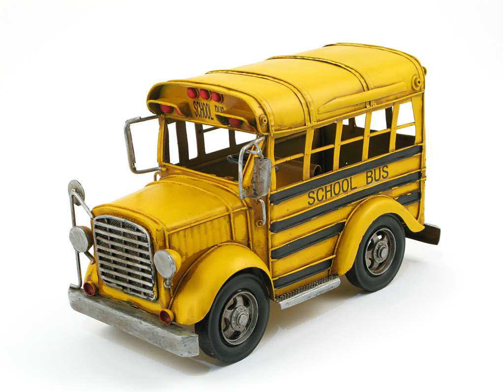 MINIATURE YELLOW SCHOOL BUS