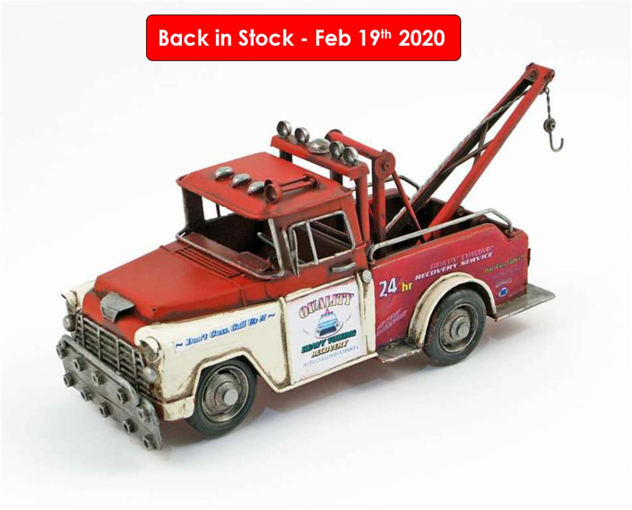 MINIATURE RED TOW TRUCK