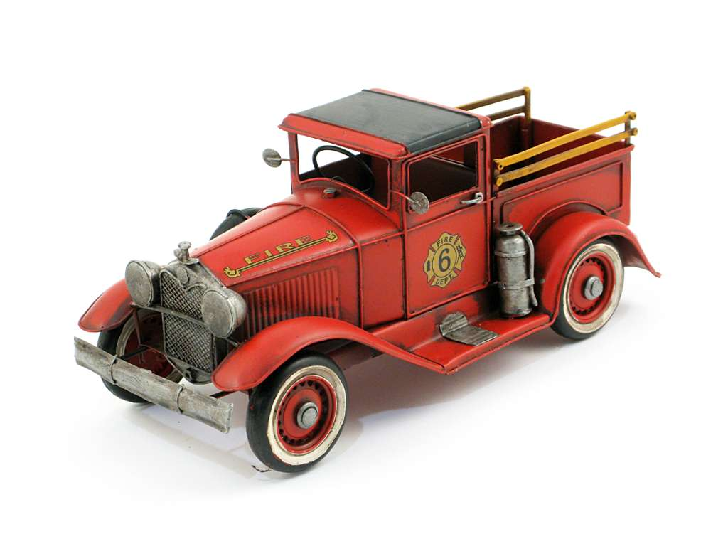 MINIATURE RED FIRE TRUCK